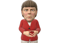 3d ready caricature angela merkel