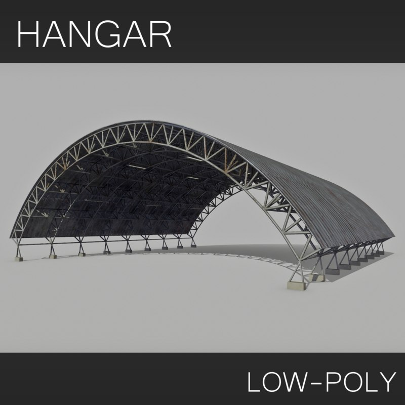 hangar low-poly 3d 3ds