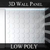 wall panel - ellipses 3d model