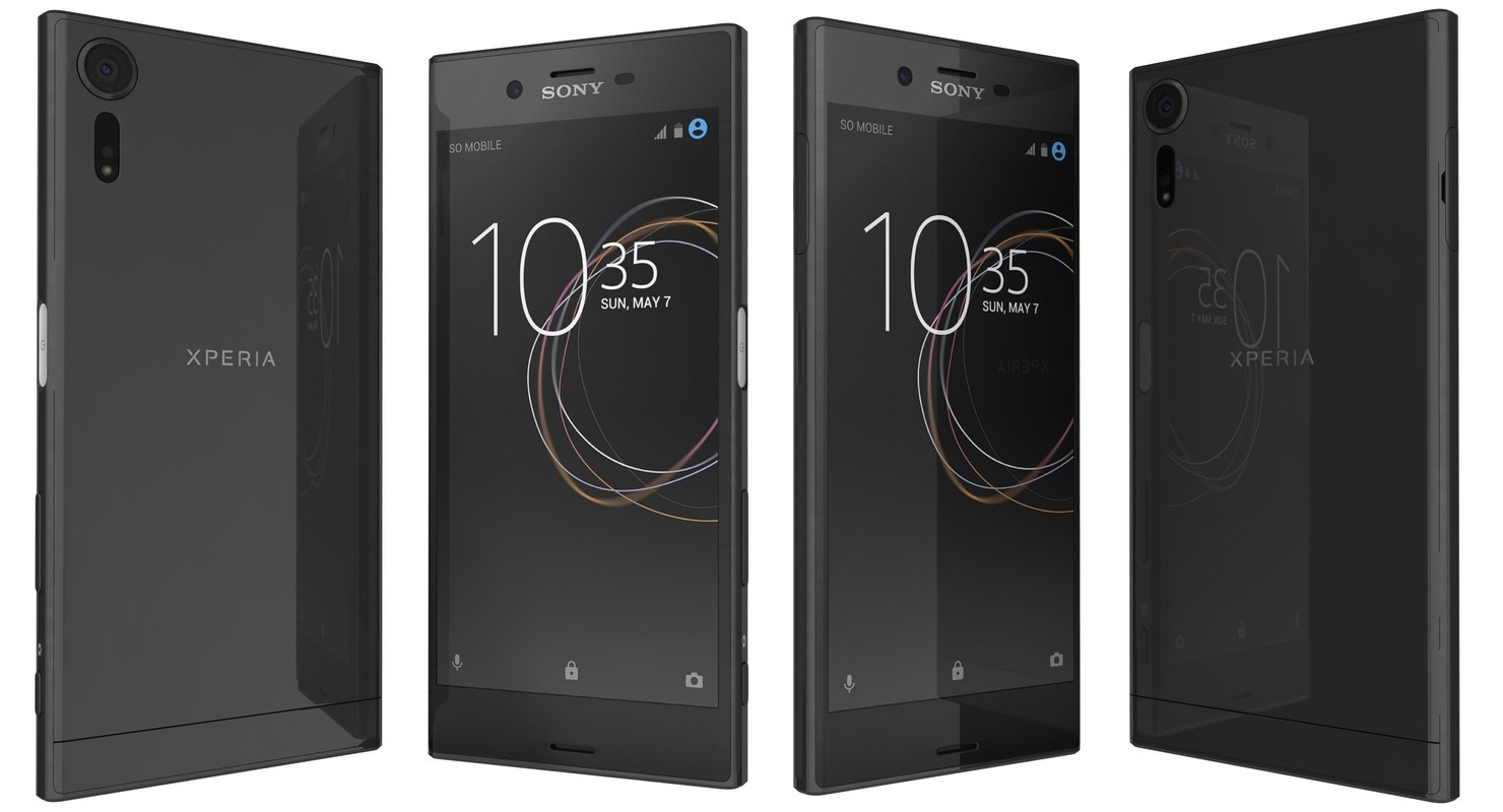3d model sony xperia xzs black