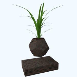 levitating plants wild onions 3d model