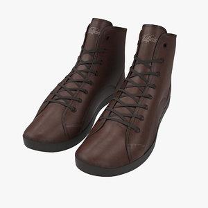 3d sneakers brown model