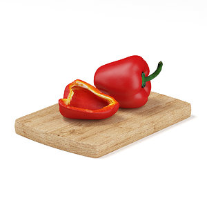 red pepper slice 3d max