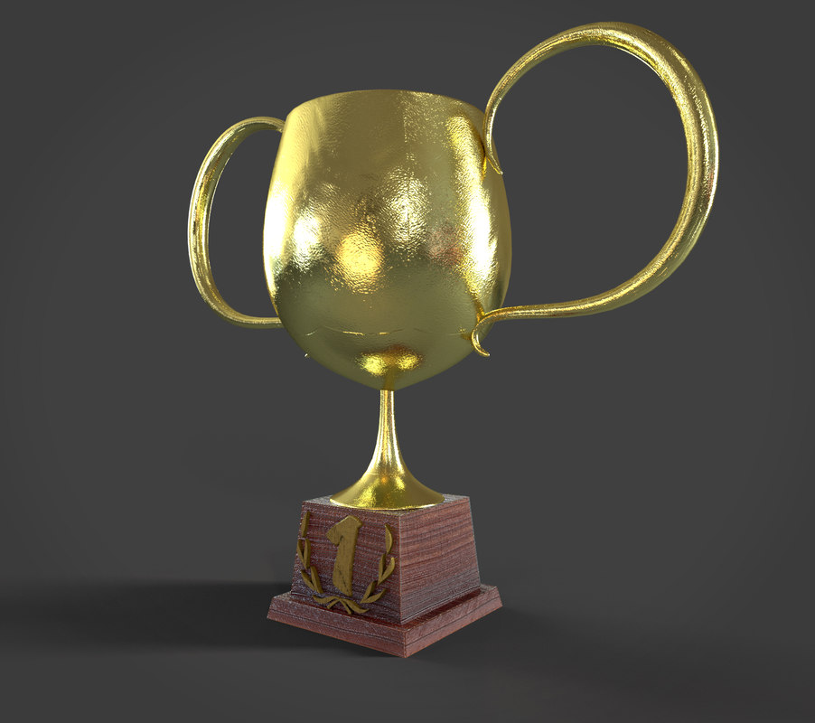 3d cartoon cup prize model