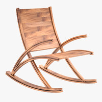 3d wishbone rocking chair model