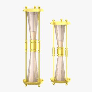 obj hourglasses glass