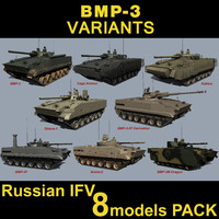 russian bmp-3 3d 3ds