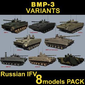 3d model russian bmp-3
