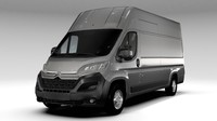 citroen jumper van l4h3 3d 3ds