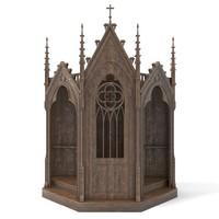 3d max gothic confessional