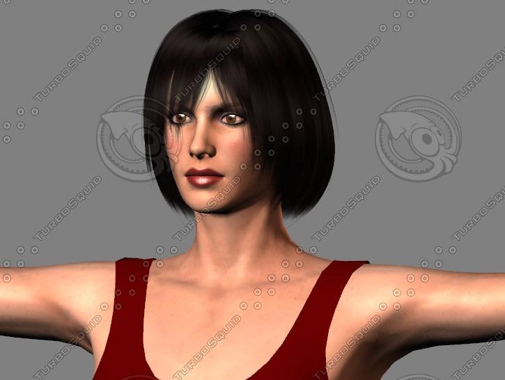 3d modern girl model