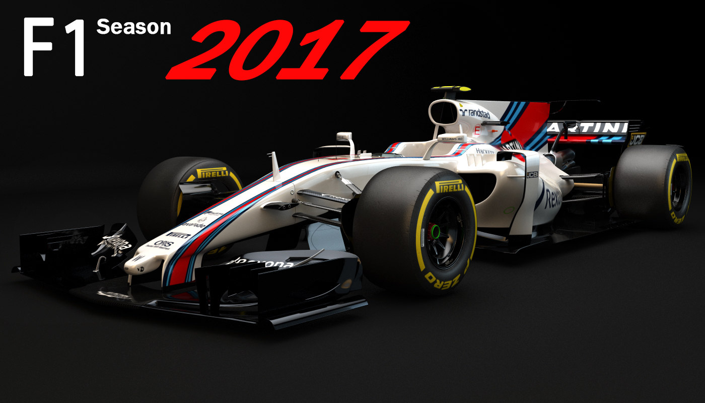 f1 williams martini racing 3d c4d