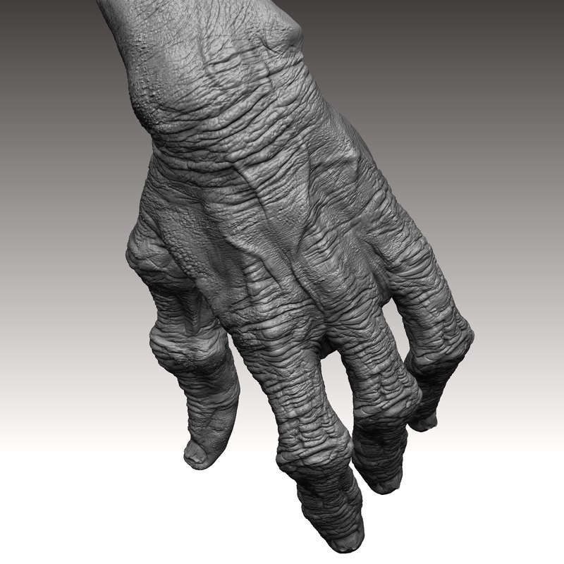 3d model monster alien hand