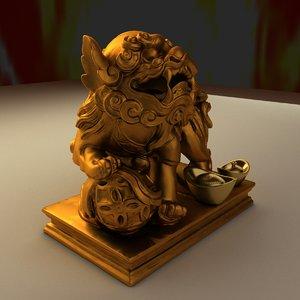 chinese lion gold ingot max