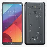 3d model lg g6 black
