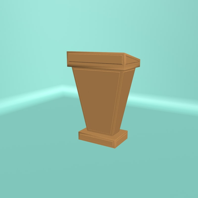podium 3d obj