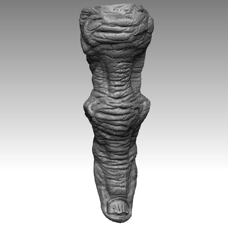 3d monster alien finger 1