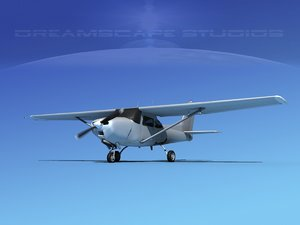 cessna 172 cutlass 172rg 3d model