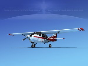 3d cessna 172 cutlass 172rg model