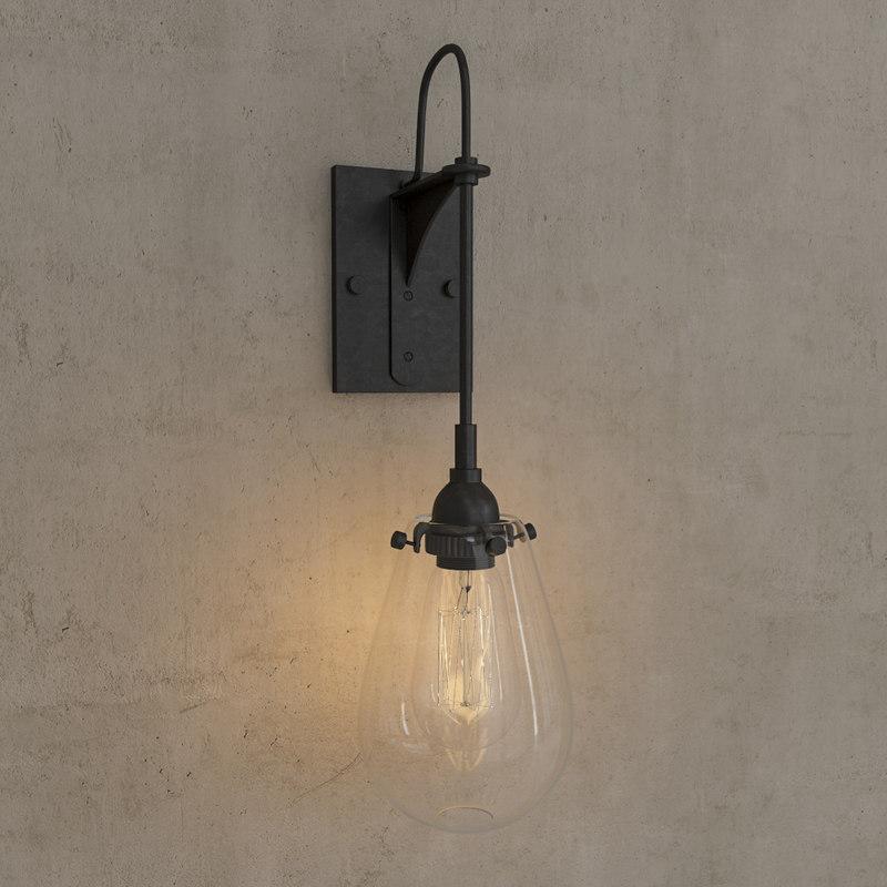 3d model wall sconce light