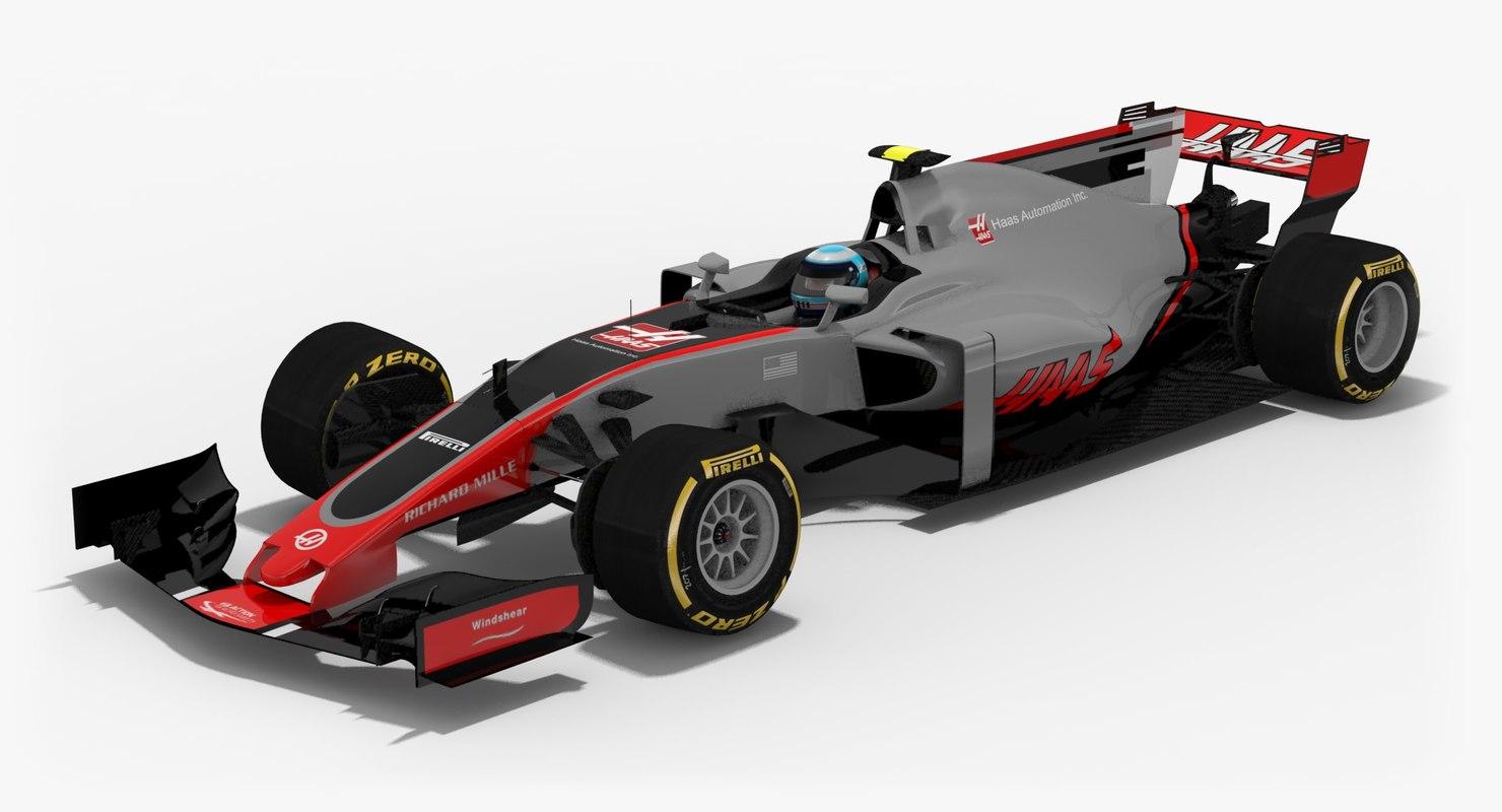 haas vf-17 formula 1 3d model