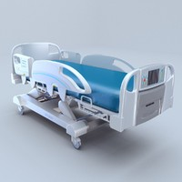 InTouch Critical bed Stryker 3d model, vray
