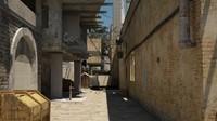 alley duel scene 3 d 3d max