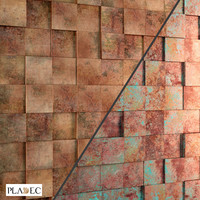 3D panel (oxydated copper), Pladec