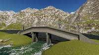 basic concrete bridge x free