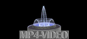 3D Animation video of fountain spray ring.