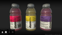 3d model vitamin water bottle