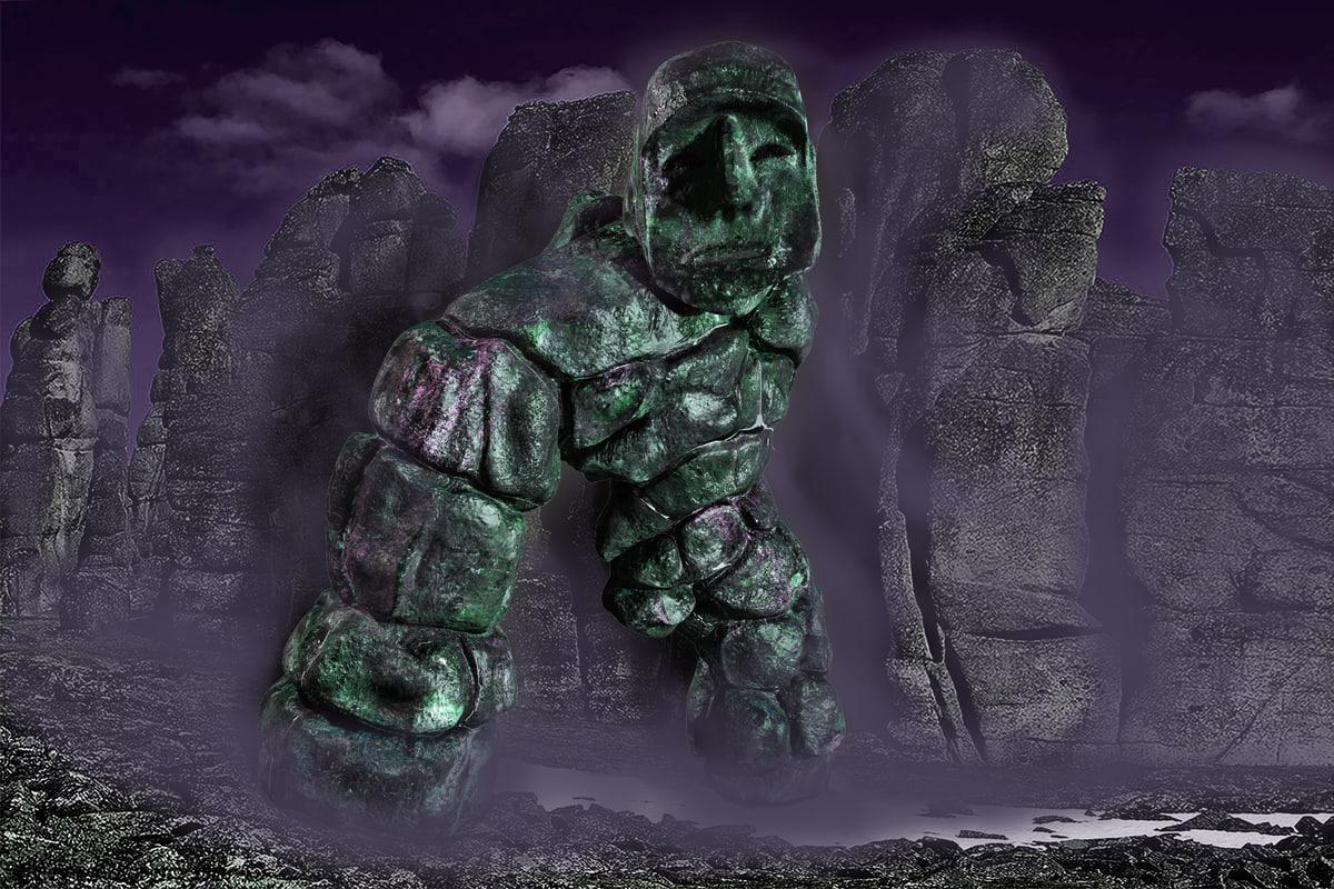 3d stone golem