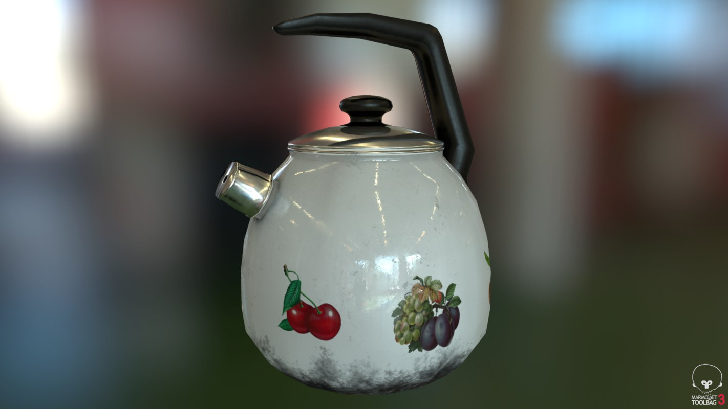 whistling kettle 3d obj