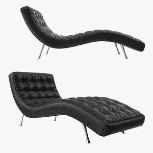 3d banquet leather sofa model