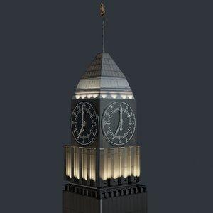 city clock big ben 3d max