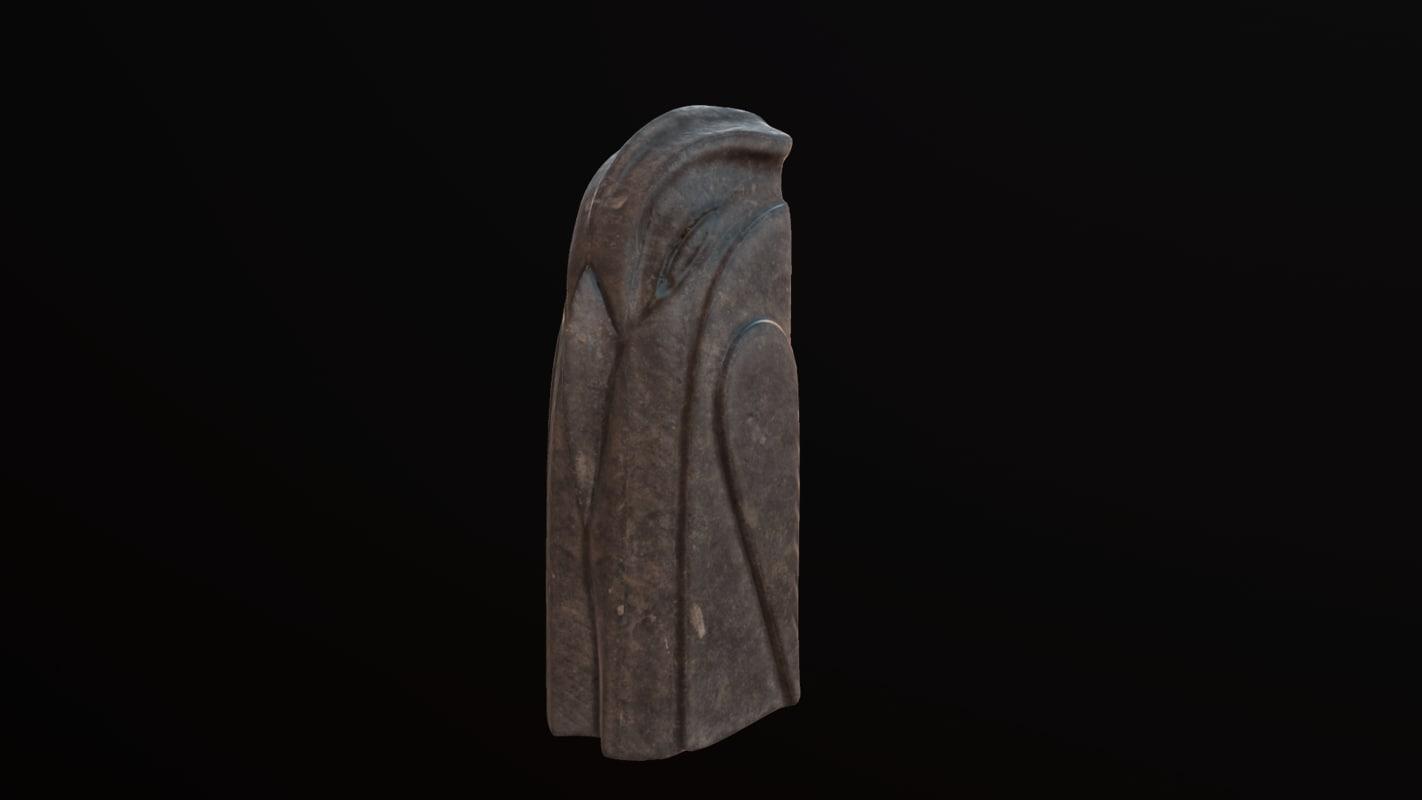 3d bird totem model