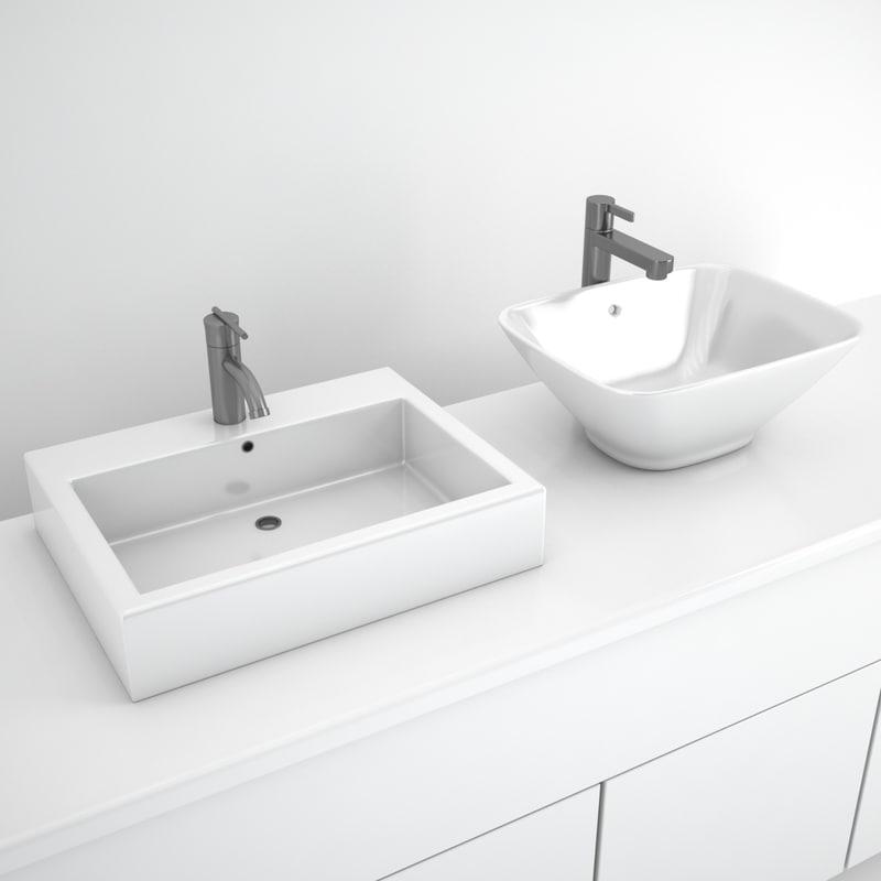 3d model sink faucet