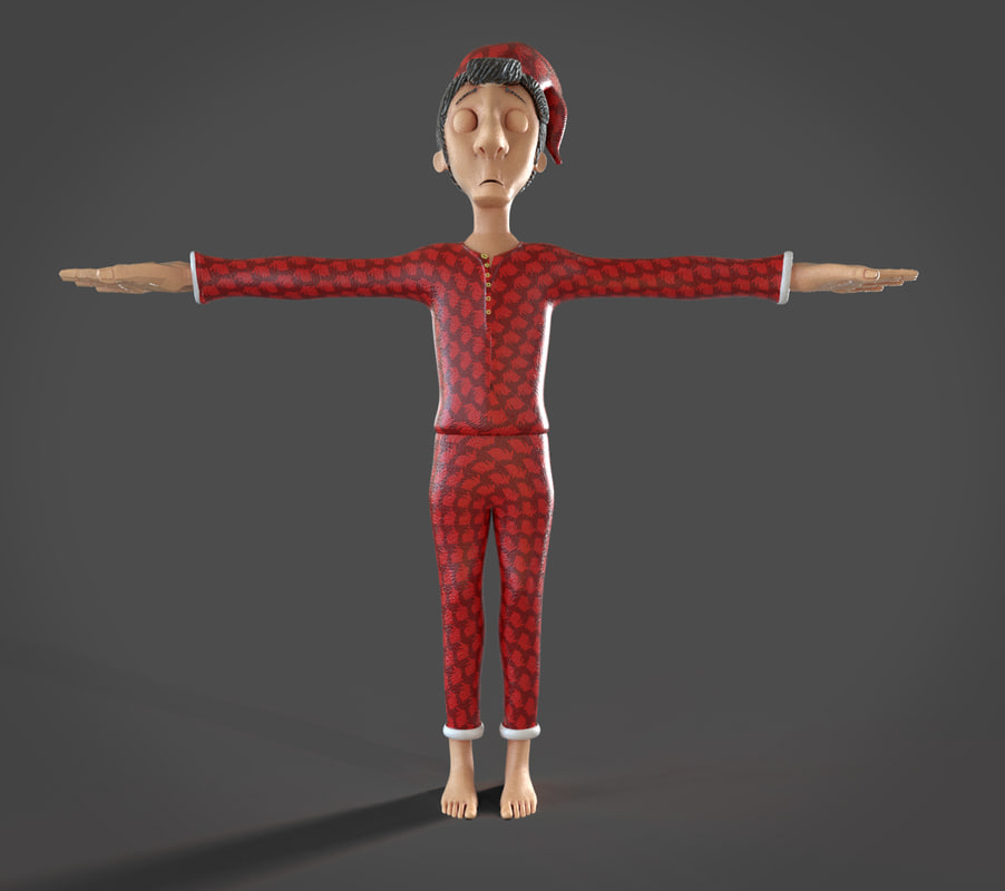 sleepy sleepwalker 3d model