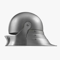 german sallet medieval helmet 3d max