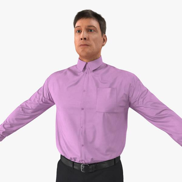 3d men business casual dress model