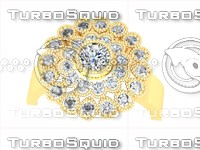 diamond beads ring 3d 3dm