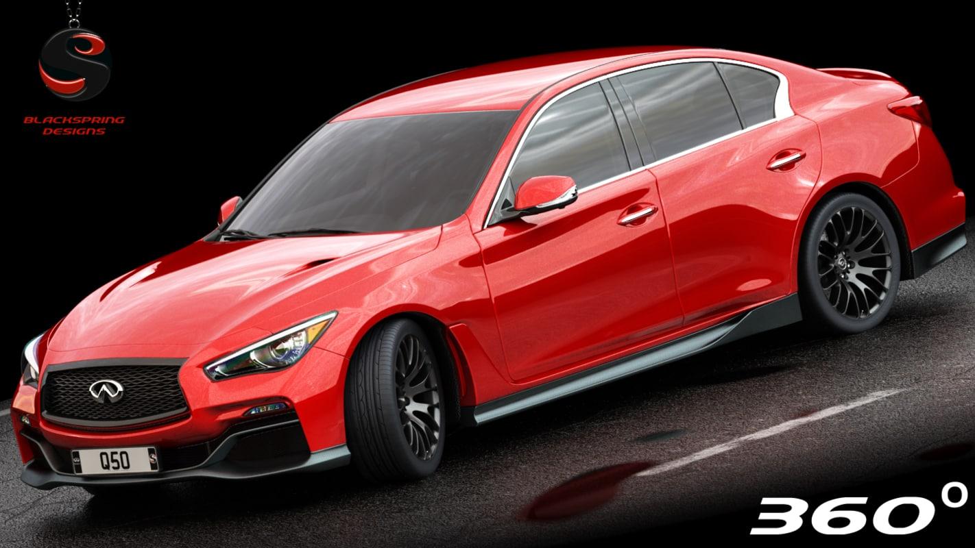 3d infiniti q50 2017 interior model