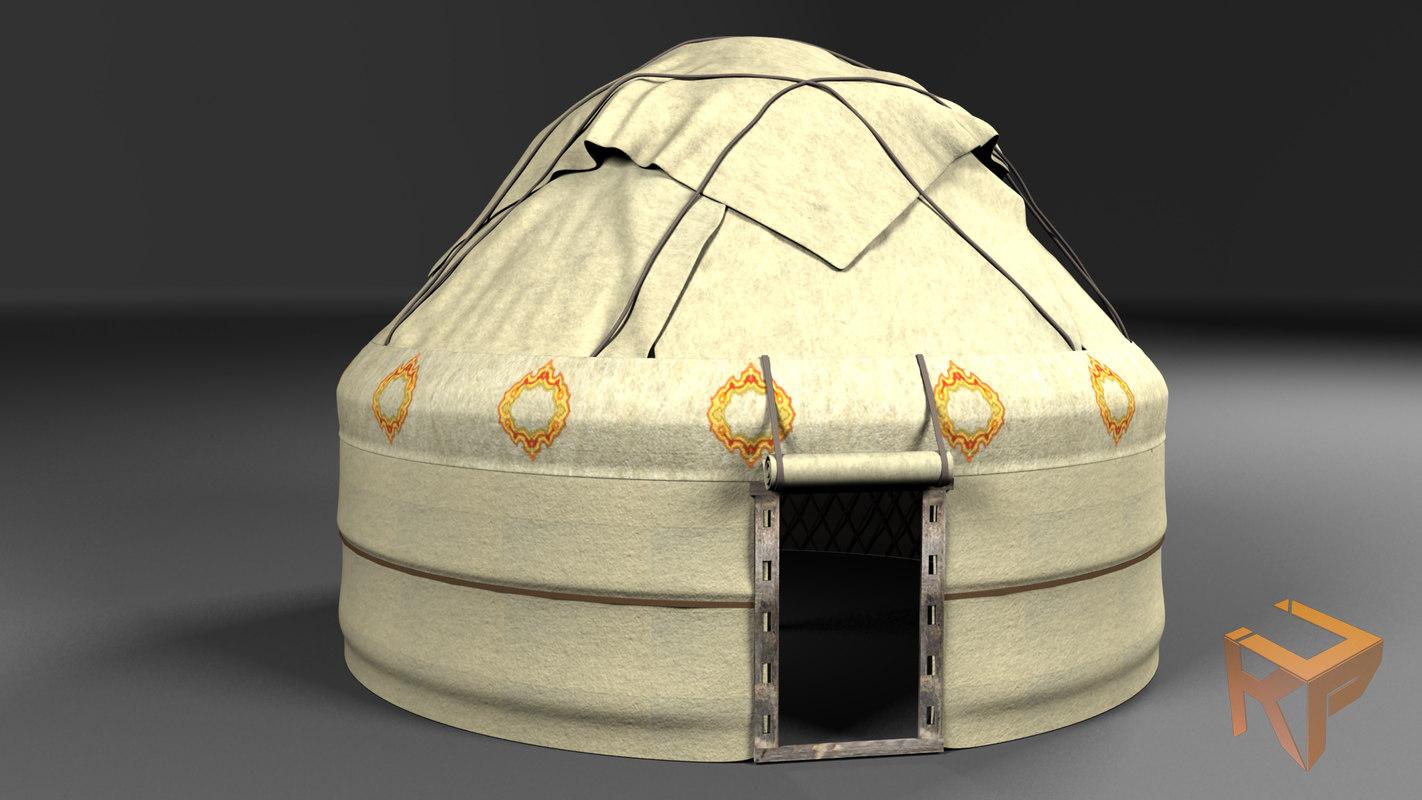 3d model nomad tent