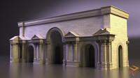 3d roman triumphal arch