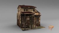 3d medieval house