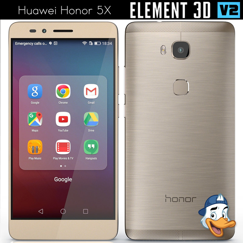 3d model huawei honor 5x element