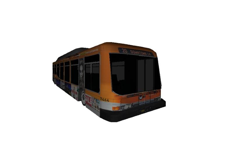 bus city 3d obj