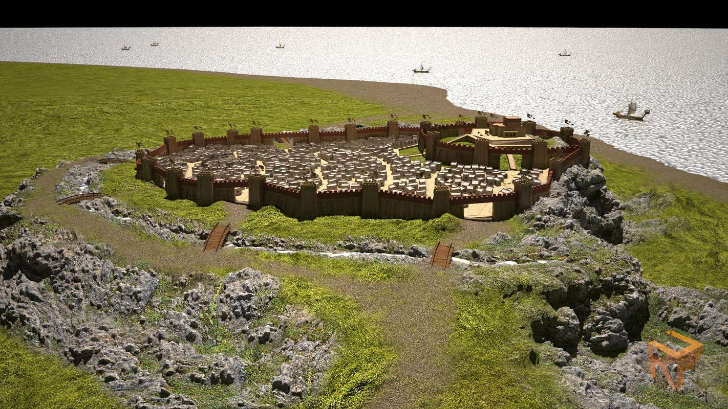 3d model troy castle