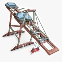 dock crane 2 3d max