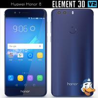 3d model huawei honor 8 element